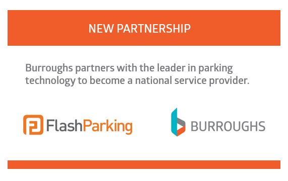 FlashParking Partners with Burroughs for a 21st Century Service Model